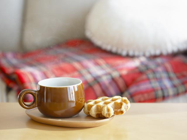 ワッフルとコーヒー